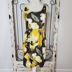 Eliza J yellow print dress  size 6P